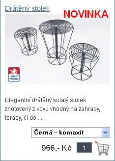 Elegantní drátěný stolek